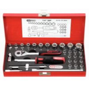 """CLASSIC hex socket set, 30pcs, 1/4"""", KS Tools"""