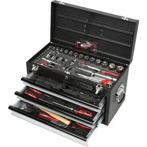 Instrumentu komplekts 1/2+1/4 kastē, 99 gab., Chrome Plus, KS Tools