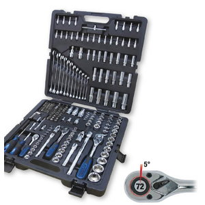 Padrun kmpl 1/4´´ - 1/2´´, 216-osa CHROMEplus, KS Tools