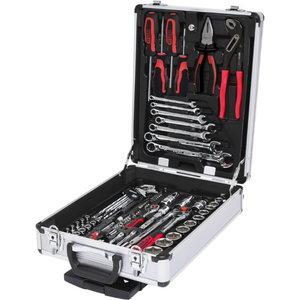 Tööriistakohver 90 osa 1/4+1/2´´, KS Tools