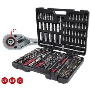 Socket set CHROMEplus 1/4+3/8+1/2'' 195pcs, KS Tools