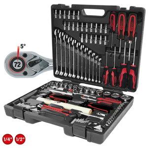 """1/4""""-1/2"""" CHROMEplus® Universal tool kit set, 97 pcs., Kstools"""