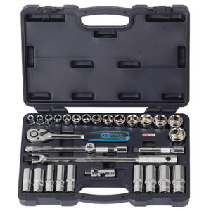 "Muciņu komplekts 1/2"" 30 gab. CHROME+ imperial size, KS Tools"