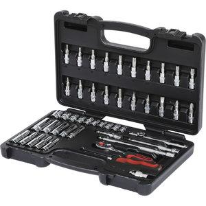 """1/4"""" CHROMEplus Socket set, 47 pcs, KS Tools"""