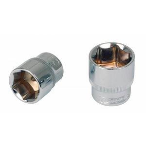 """Sešstūra muciņa 1/4"""" 6mm CHROME+, KS Tools"""