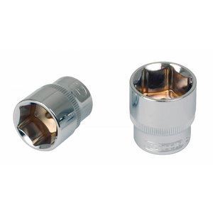 """Sešstūra muciņa 1/4"""" 14mm CHROME+, KS Tools"""