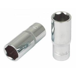 """Sešstūra muciņa 1/4"""" 12mm CHROME+, dziļā, KS Tools"""