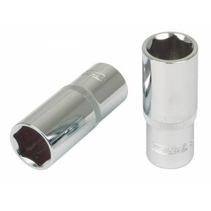 """Sešstūra muciņa 1/4"""" 13mm CHROME+, dziļā, KS Tools"""