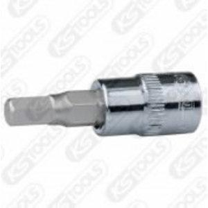 "Antgalis galvutė 1/4""  7mm CHROME+, KS tools"