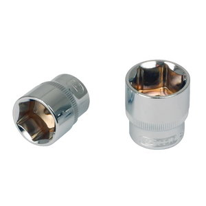 "CHROME+ hex socket, 3/8"", 10mm, KS Tools"