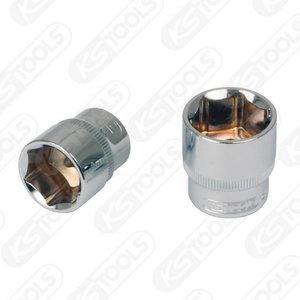 """3/8"""" CHROMEplus Hexagonal socket, 18mm, KS Tools"""