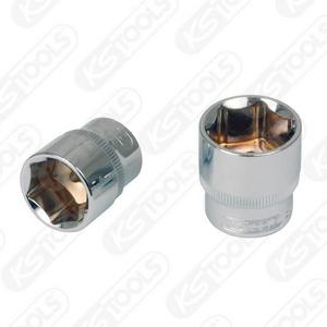 """3/8"""" CHROMEplus Hexagonal socket, 21mm, KS Tools"""