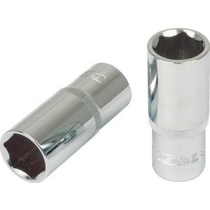 """Muciņa 3/8"""" CHROMEplus, pagarināta, 15mm"", KS Tools"