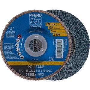 Lameļu slīpdisks 125mm Z120 PSF PFC POLIFAN, Pferd