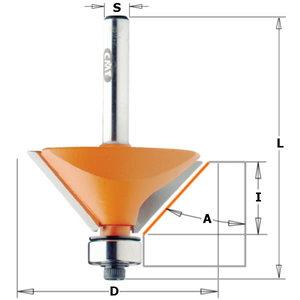 Frēzes asmens ar gultni TCT S=12 D=65 X26, CMT