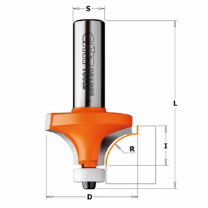 Roundover router bit with Delrin® bearing, CMT
