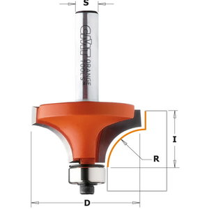 Roundover router bit with bearing, CMT