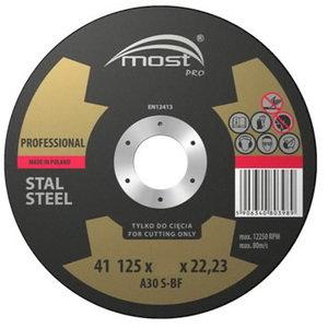 Режущий диск по металлу  PROFES.41 125*1.6*22 STAL, MOST