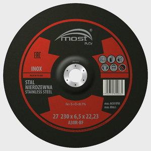 Šlifavimo diskas 230x6.5mm A30RBF INOX, MOST