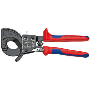 Cable Cutter ratchet action up to D32mm/240mm2, Knipex