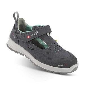 Safety sandals Skipper Lady Belvedere, grey S1 ESD SRC women, Sixton Peak