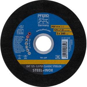 Griezējdisks 125x1mm PSF CLASSIC STEELOX, Pferd