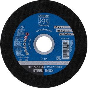 Pjovimo diskas 125x1mm SG CLASSIC STEELOX, Pferd