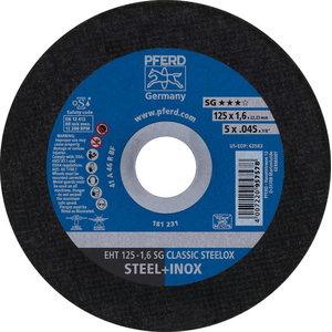 Pjovimo diskas 125x1,6mm SG CLASSIC STEELOX, Pferd