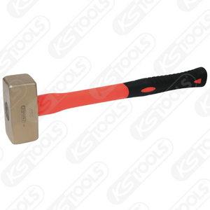 BRONZEplus Club hammer 8000 g, with fibreglass handle, KS Tools