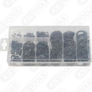 E-ring retaining rings assortment 300-pcs