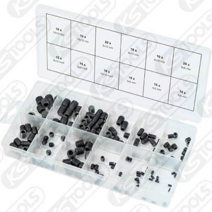 Headless screws assortment, 3x5mm-10x12mm, 160 pcs