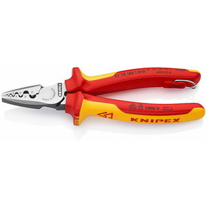 Crimping Pliers for end sleeves (ferrules) 0,25-16,mm²- VDE, Knipex