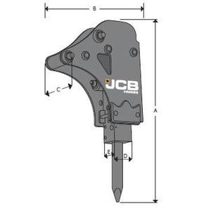 Hüdrovasar JCB HM033T, 3CX, 4CX laadur-ekskavaatoritele