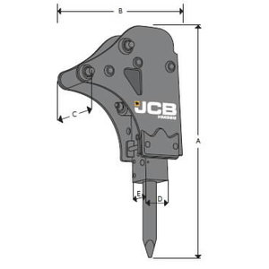 Kūjis hidraulinis HM033T, JCB