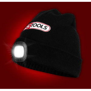 Beanie hat with rechargeable LED light, KS Tools