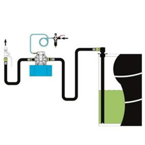 Installation kit for 22210 diaphragm pump