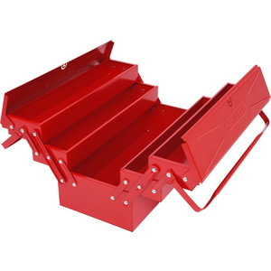 Sheet steel toolbox, 5 compartments, 420x200x190mm, KS Tools