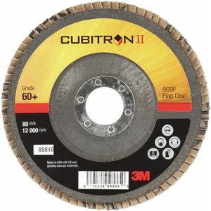 3M Cubitron II 969F vėduoklinis diskas kūginis 125mm P60+, 3M