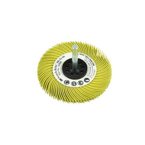 Bristle Brush BB-ZS Radial Bristle 75mm/6, P80 yellow, 3M