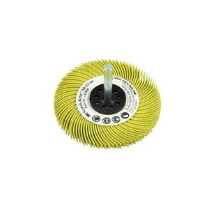 Šepetys Bristle BB-ZS Radial 75x6x6 P80 su koteliu geltonas, 3M