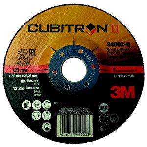 Slīpdisks 125x7mm Cubitron II T27 Keramiskais, 3M
