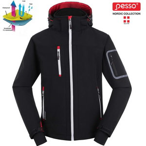 Softshell jacket with hoodie Acropolis black L, Pesso