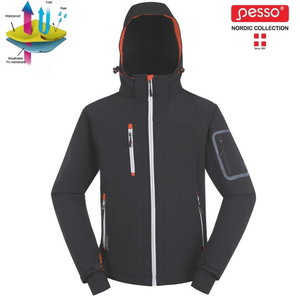 Softshell jacket with hoodie Acropolis grey L, , Pesso
