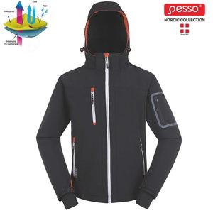 Softshell jacket with hoodie Acropolis grey, Pesso