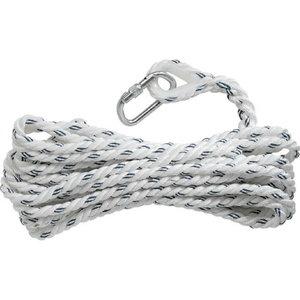 Polyamide rope ø 14 mm, 10 m, 1 loop +1 AM002 karabiner, Delta Plus