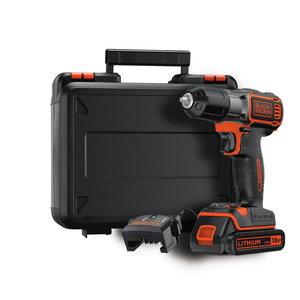 Cordless drill ASD184K / 18V / 1,5 Ah, Black+Decker