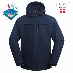 Softshell jacket with hoodie Atlanta, navy S, Pesso