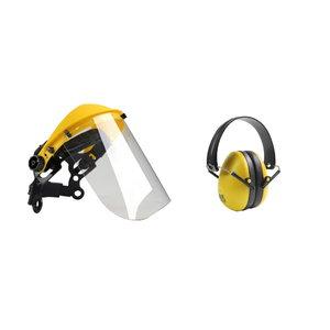 Kaitsevisiir pleksiklaasist kõrvaklappidega, BBT
