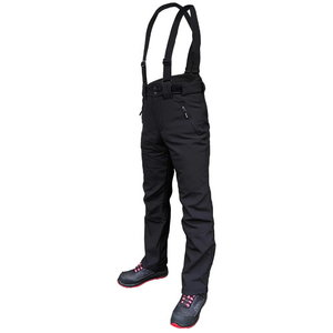 Winter softshell trousers Barnabi, black, with brace, Pesso