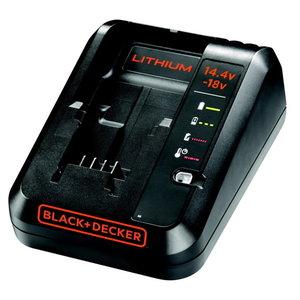 Akumuliatorių kroviklis 14,4 - 18V 1 Amp, Black+Decker